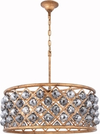 Urban Classic 1214D25GI-SS-RC Madison Golden Iron 25  Drum Pendant Lighting