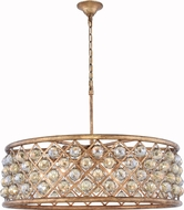 Urban Classic 1214D32GI-GT-RC Madison Golden Iron 32  Drum Pendant Light