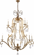 Urban Classic 1420G43GI Sarina Golden Iron Lighting Chandelier