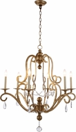 Urban Classic 1421D34GI Sarina Golden Iron Chandelier Light