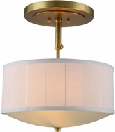 Urban Classic 1449D15BB Manhattan Burnished Brass Drum Ceiling Light Pendant