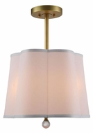 Urban Classic 1455D16BB Plantation Burnished Brass Drum Hanging Lamp