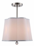 Urban Classic 1455D16PN Plantation Polished Nickel Drum Pendant Light Fixture