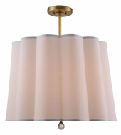Urban Classic 1455D25BB Plantation Burnished Brass Drum Hanging Pendant Lighting