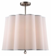 Urban Classic 1455D25VN Plantation Vintage Nickel Drum Hanging Light Fixture