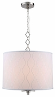 Urban Classic 1457D23PN Meridian Polished Nickel Drum Pendant Lighting