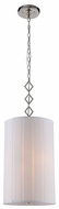 Urban Classic 1458D13PN Luna Polished Nickel Drum Hanging Lamp