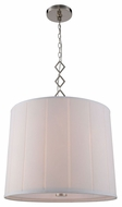 Urban Classic 1458D23PN Luna Polished Nickel Drum Hanging Pendant Lighting