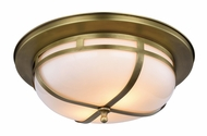 Urban Classic 1478F15BB Bella Burnished Brass Flush Mount Light Fixture