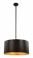Urban Classic 1482D26VB Hudson Retro Vintage Bronze&Golden Iron 26  Drum Drop Ceiling Light Fixture
