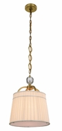 Urban Classic 1485D15BB Cara Burnished Brass 15  Drum Pendant Lamp