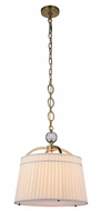 Urban Classic 1485D18BB Cara Burnished Brass 18  Drum Pendant Light Fixture