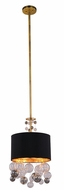 Urban Classic 1486D15BB Milan Modern Burnished Brass 15  Drum Hanging Pendant Light