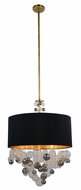 Urban Classic 1486D24BB Milan Modern Burnished Brass 24  Drum Hanging Light Fixture