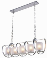 Urban Classic 1497G48SL Europa Contemporary Vintage Silver Leaf Kitchen Island Light Fixture