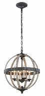 Urban Classic 1503D18IW Orbus  Ivory wash & Steel grey 18  Ceiling Pendant Light