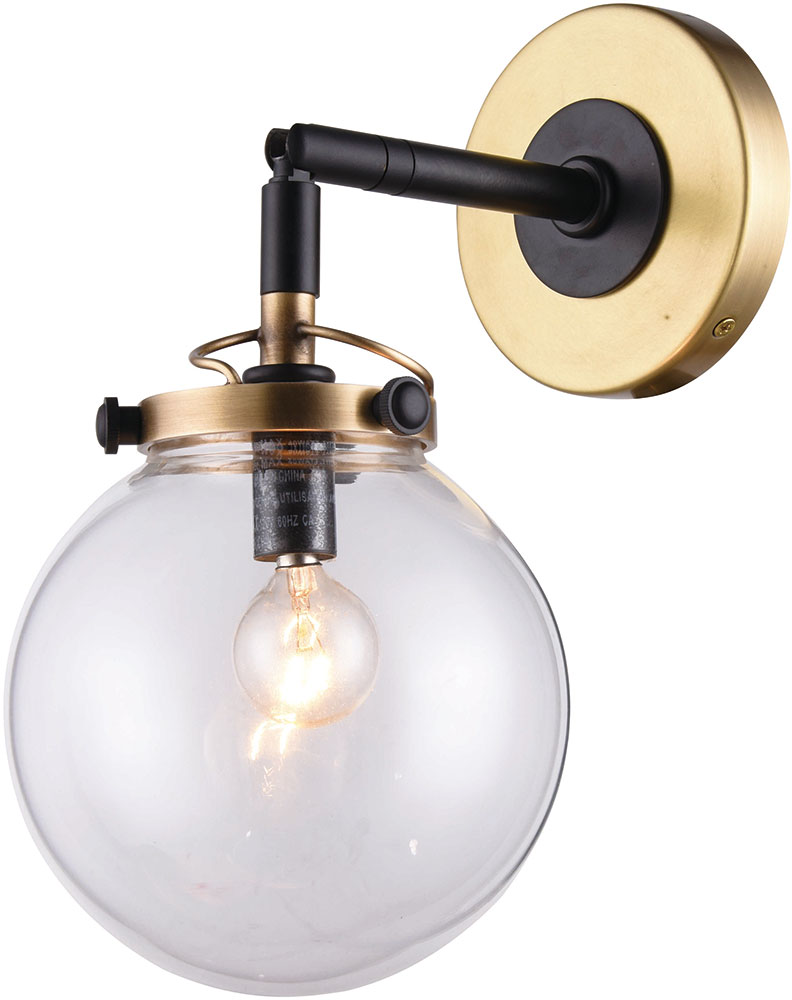 Urban Classic 1507W6BB Leda Modern Burnished Brass&Flat Black Wall Light Sconce - URB-1507W6BB