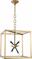 Urban Classic 1510D20BB Lexy Contemporary Burnished Brass and Flat Black 20  Foyer Lighting