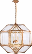 Urban Classic 1514D19GI Gordon Contemporary Golden Iron 19  Drop Ceiling Light Fixture