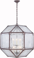 Urban Classic 1514D24SR Gordon Contemporary Saddle Rust 24  Hanging Lamp