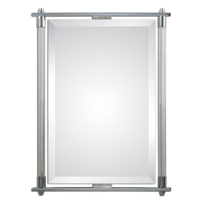 "Tall Wall Mirrors uttermost 01127 adara polished chrome plated finish 36"" tall"