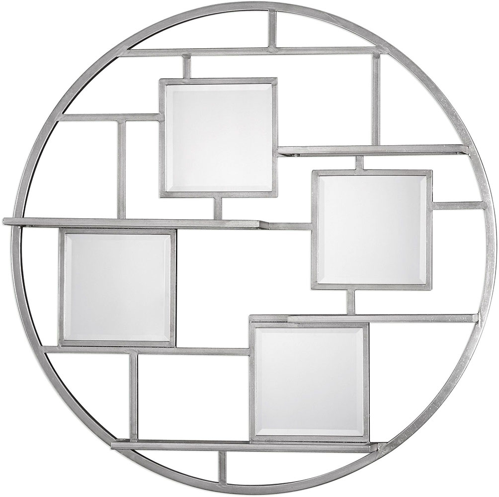 Uttermost 04089 zaria contemporary bright silver leaf wall shelf uttermost 04089 zaria contemporary bright silver leaf wall shelf mirror loading zoom amipublicfo Gallery