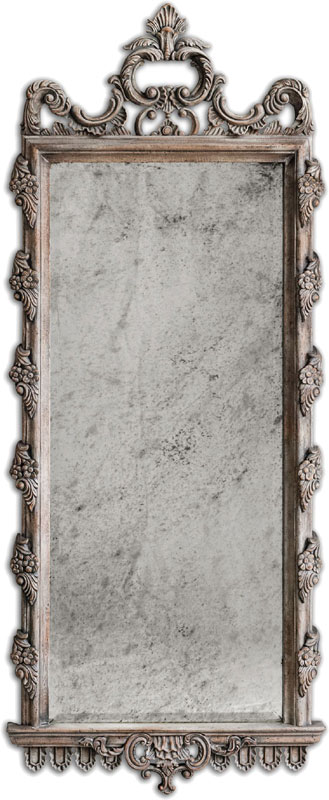 Uttermost 05030 via giulia 28 wide distressed long mirror for Long wide mirror