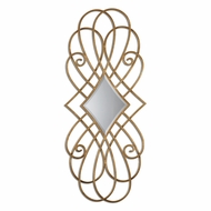 Uttermost 07674 Lilou Antiqued Gold Leaf Finish 19  Wide Mediterranian Gracefully Cured Metal Mirror