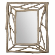 Uttermost 07678 Amory 39  Wide Rustic Wood Branches Wall Mounted Mirror