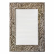 Uttermost 08146 Fortuo Weathered Driftwood Mahogany Wood Wall Mirror
