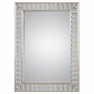 Uttermost 09046 Lanester Lightly Antiqued Silver Leaf Wall Mounted Mirror