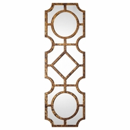 Uttermost 09049 Lupano Tortoise Shell Geometric Wall Mounted Mirror