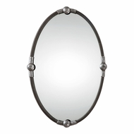 Uttermost 09064 Carrick Rust Black Oval Mirror