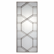 Uttermost 09068 Kennis Modern Lightly Antiqued Silver Leaf Mirror