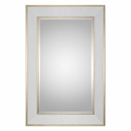 Uttermost 09082 Cormor Gloss White Gold Wall Mirror