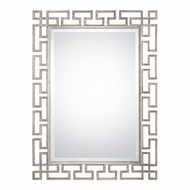 Uttermost 09089 Agata Contemporary Lightly Antiqued Silver Leaf Wall Mounted Mirror