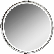 Uttermost 09109 Tazlina Brushed Nickel Round Mirror