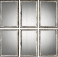 Uttermost 09117 Alcona Antiqued Silver Wall Mirror