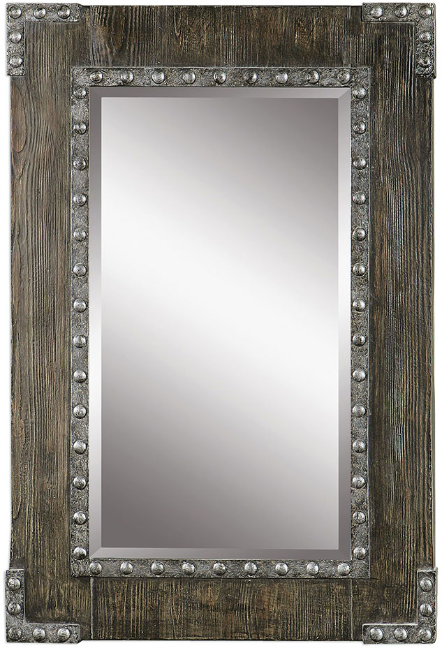 uttermost malton rustic wood wall mirror loading zoom - Uttermost Mirrors