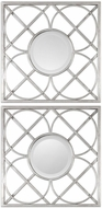 Uttermost 09177 Yasmina Squares Silver Square Wall Mounted Mirror