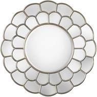 Uttermost 09217 Dahlia Lightly Antiqued Silver Leaf Mirror