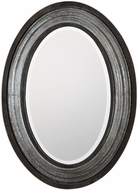 Uttermost 09226 Galina Light Gray Wash Iron Oval Wall Mirror