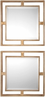 Uttermost 09234 Allick Lightly Antiqued Gold Leaf Mirror (set of 2)