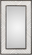 Uttermost 09245 Karel Lightly Distressed Rustic Bronze Mirror