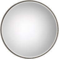 Uttermost 09252 Stefania Antiqued Silver Leaf Wall Mirror