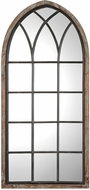 Uttermost 09276 Montone Pine / Light Gray Wall Mounted Mirror