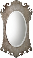 Uttermost 09283 Vitravo Oxidized Silver Oval Wall Mirror
