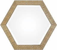 Uttermost 09327 Hanisha Honeycomb Gold Wall Mounted Mirror
