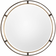 Uttermost 09332 Carrizo Contemporary Bronze Round Wall Mounted Mirror