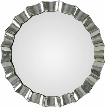 Uttermost 09334 Sabino Scalloped Round Wall Mirror